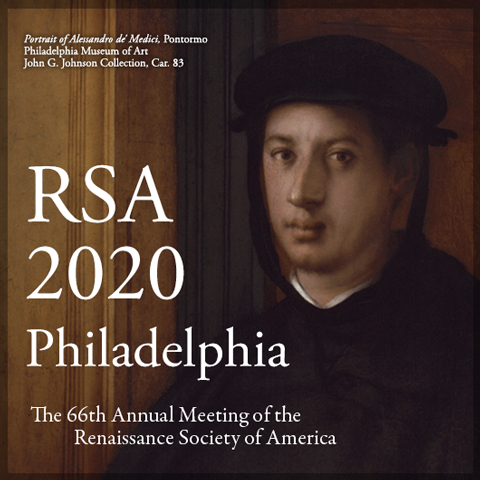 The 66th Annual Meeting of the Renaissance Society of America (2-4 April, 2020)